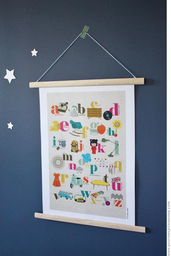 des id es originales pour mettre en valeur vos affiches. Black Bedroom Furniture Sets. Home Design Ideas